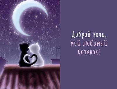 Романтическая открытка, гиф (gif) романтической ночи любимому парню